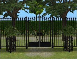 sunnisims_'Sentry Wrought Iron' Fence