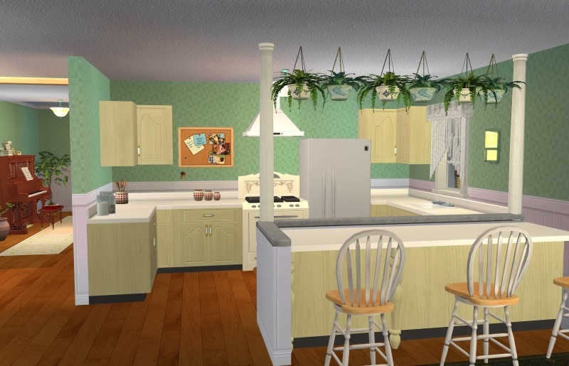 Attack of the green thumb bestbuilditems4sims2 for Sims 2 kitchen ideas