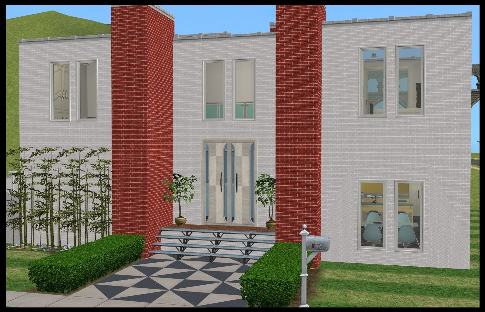 Retro modern house up for grabs bestbuilditems4sims2 for Modern house ep 9
