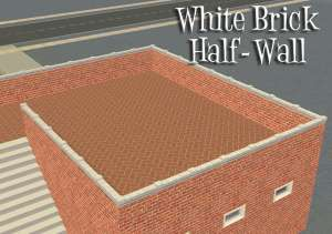 whiteBrickHalfWall