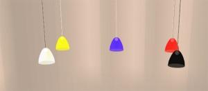 artisticsims_glasspendantlampsset