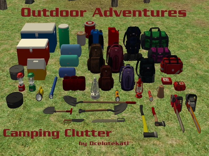 Camping Clutter Title Card