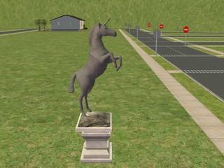 noeidog SC2 Atlantian Unicorn Statue